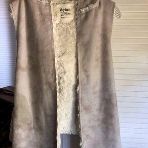 Dylan Faux Shearling Hooded Vest